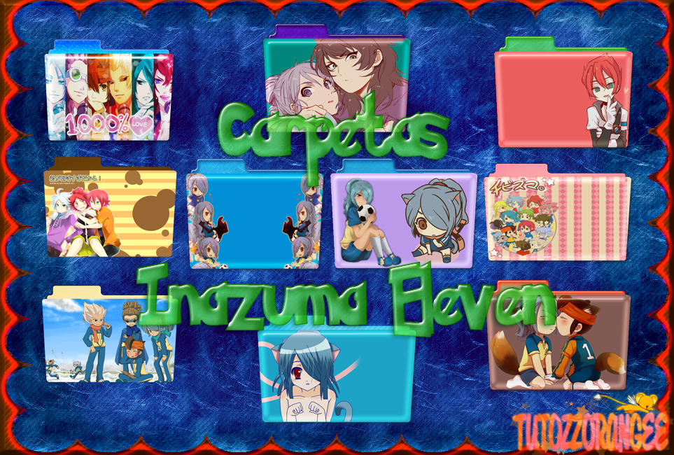 Inazuma Eleven Carpetas by TutozzOrangee