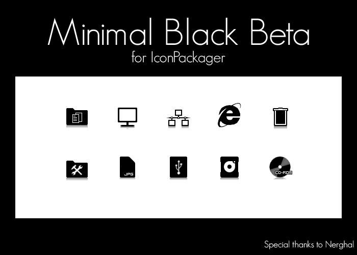 MinimalBlackBeta IconPackager by MrEyePatch