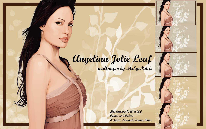 Angelina Jolie Leaf by MrEyePatch