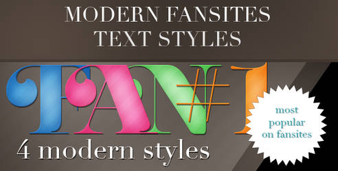 4 modern fansites text style