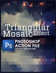 Triangular Mosaic Effect - PHOTOSHOP ACTION by FashionVictim89