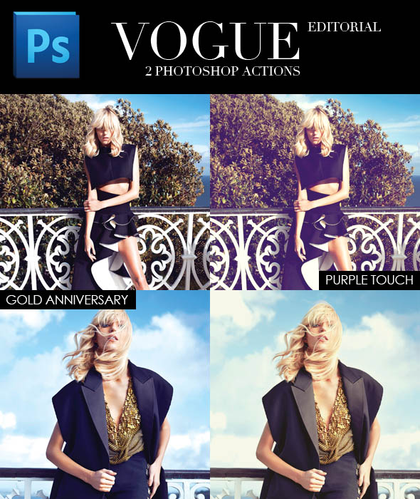 VOGUE Editorial - Photoshop Action by FashionVictim89 on