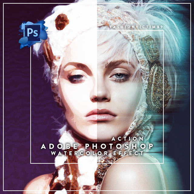 Watercolor Effect - Photoshop Action by FashionVictim89