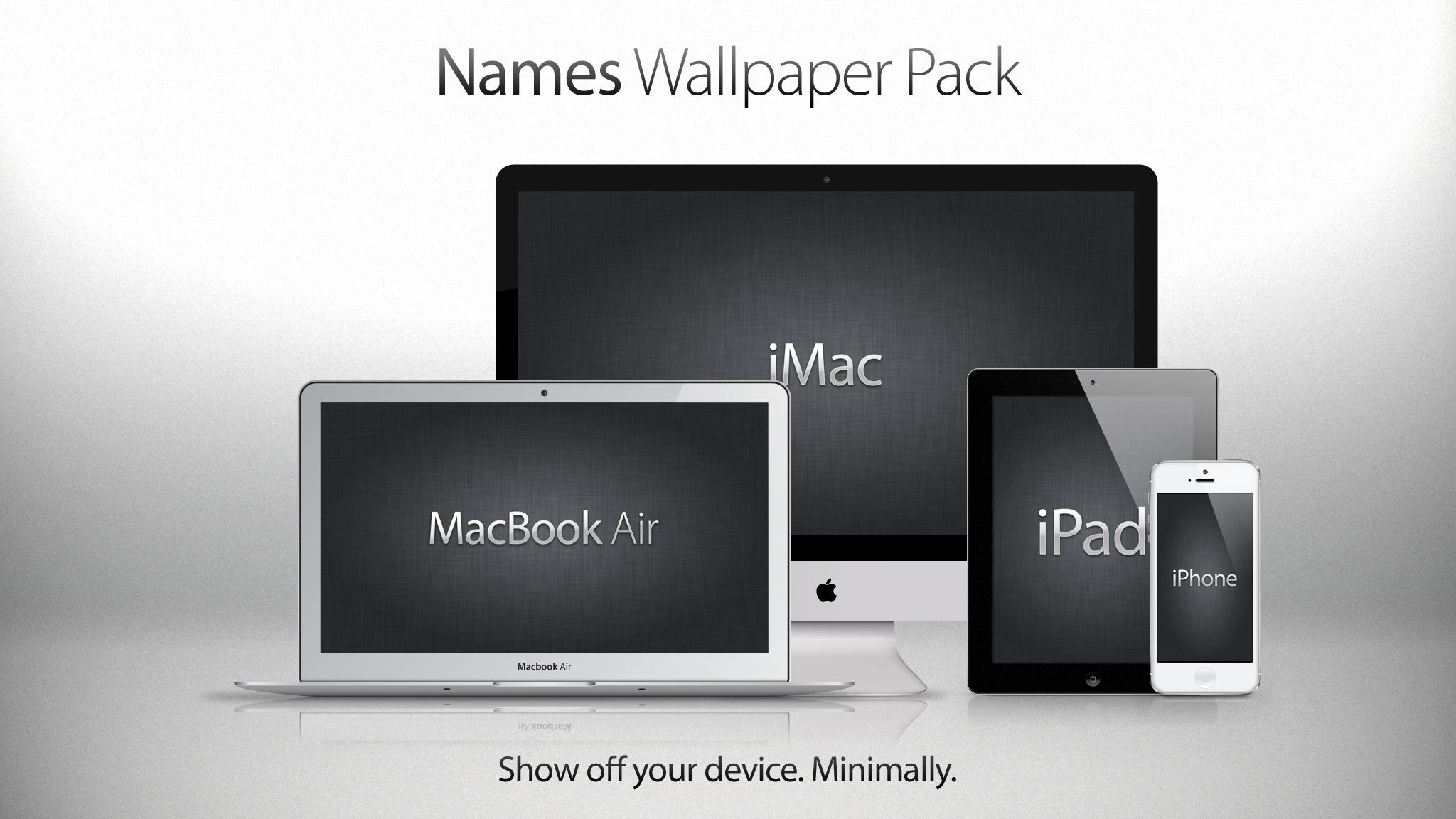 Names Wallpaper Pack