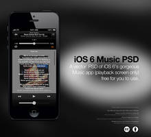 iOS 6 Music App PSD by theIntensePlayer