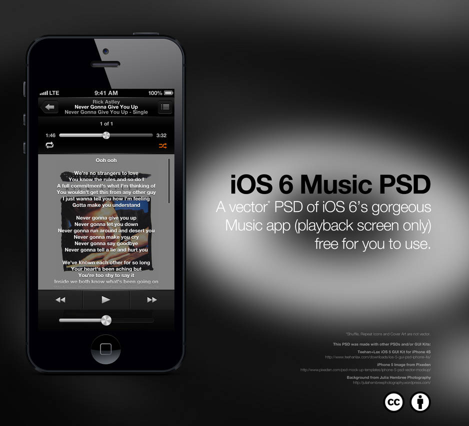 iOS 6 Music App PSD by theIntensePlayer on DeviantArt