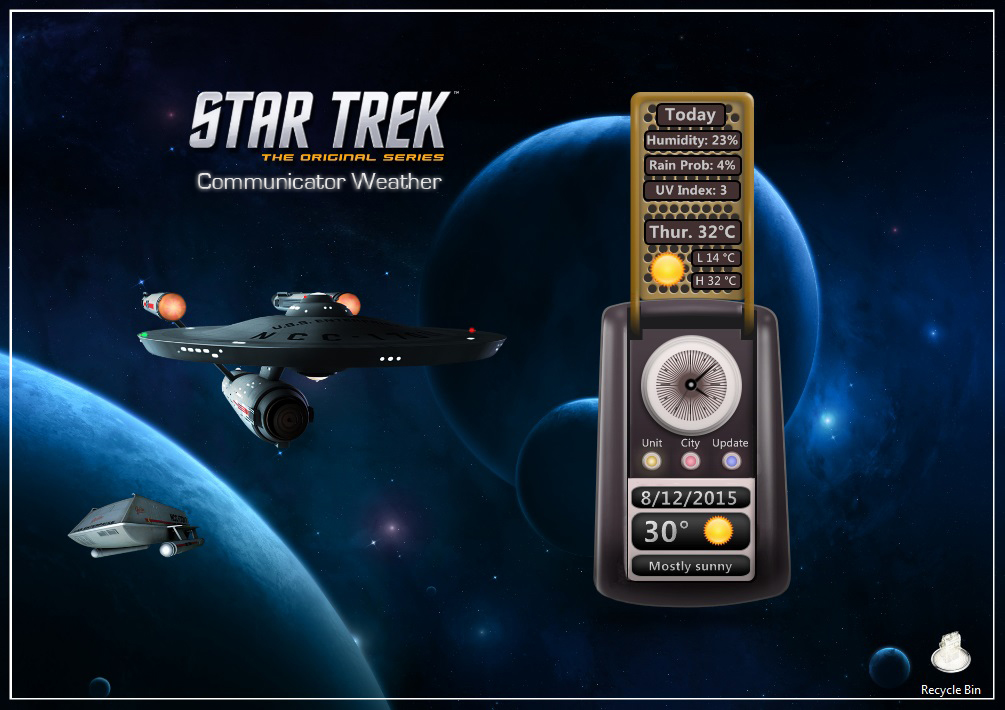 Star Trek Communicator Weather by kjc66