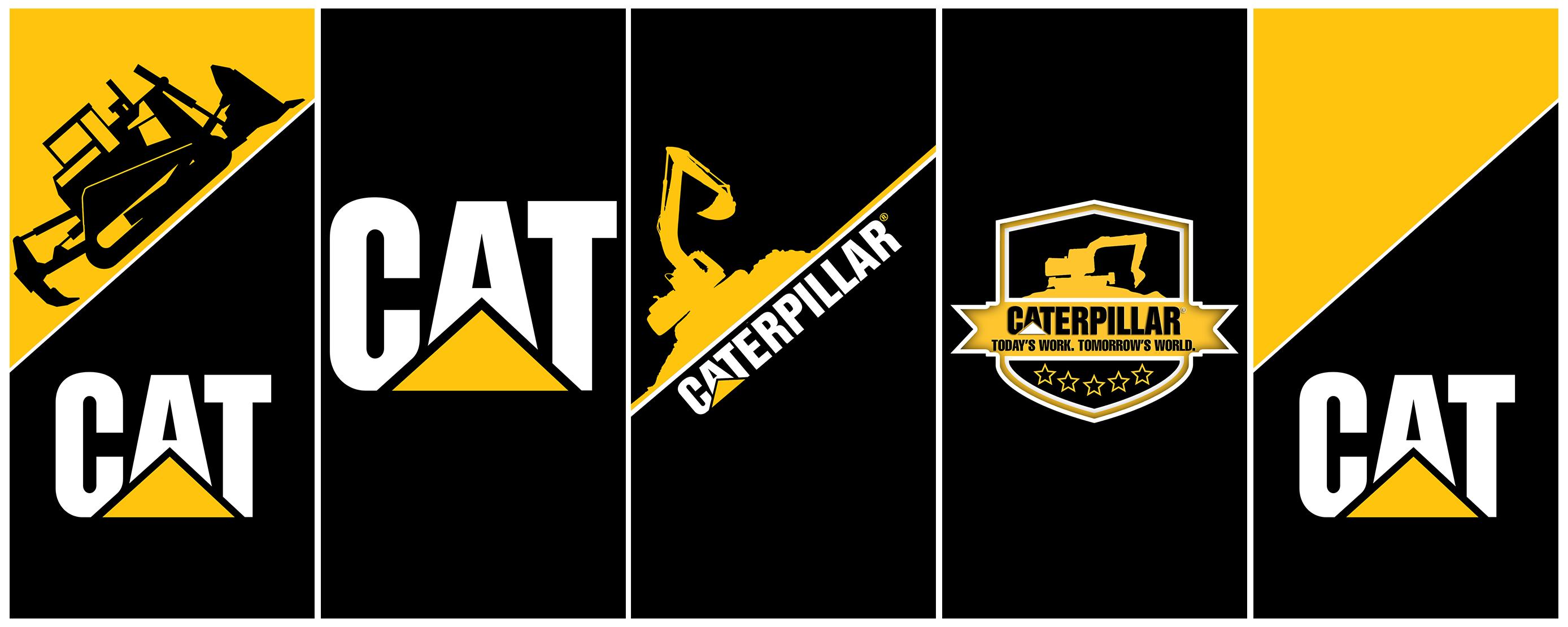 Caterpillar Wallpaper Cat Logo