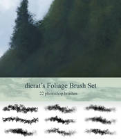Foliage Brush Set by dierat