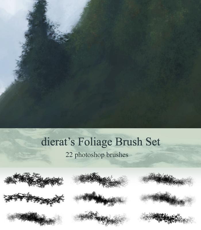 Foliage Brush Set by dierat