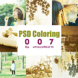 PSD Coloring 007 by unlockedorm