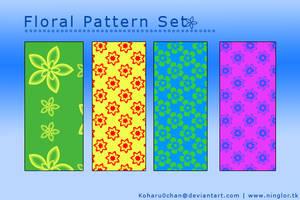 Floral Patterns 4 Set by Koharu0chan