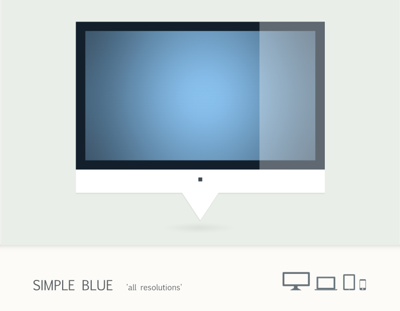Simple Blue by 9dZign