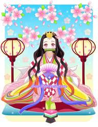 Nezuko Chan Hina Princess by Mom0San