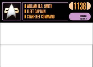 StarFleet Desk Plaque