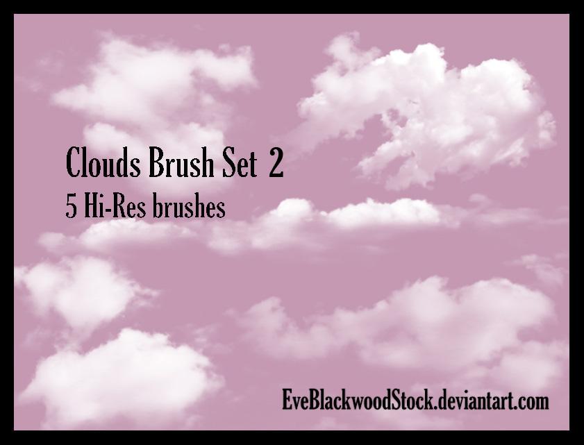 Clouds Brush Set 2 by EveBlackwoodStock