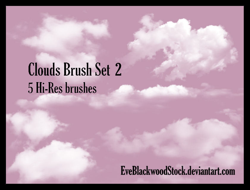 Clouds Brush Set 2 by EveBlackwoodStock