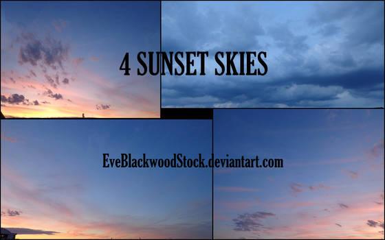 Sunset skies stock pack