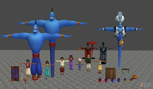 [XPS DL] Kingdom Hearts Agrabah Model Pack by silverhikari