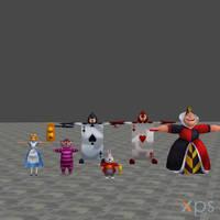 [XPS DL] KH1: Alice in Wonderland Model Pack by silverhikari
