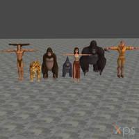 [XPS] KH1: Deep Jungle Model Pack by silverhikari