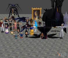 [XPS DL] KH: Hollow Bastion Model Pack by silverhikari