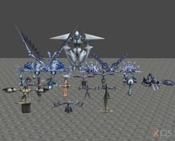 [XPS DL] KH2: Nobodies Model Pack by silverhikari