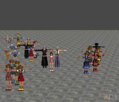 [XPS DL] KH: Main Characters Model Pack by silverhikari