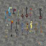 [XPS DL] KH1 Keyblade Model Pack