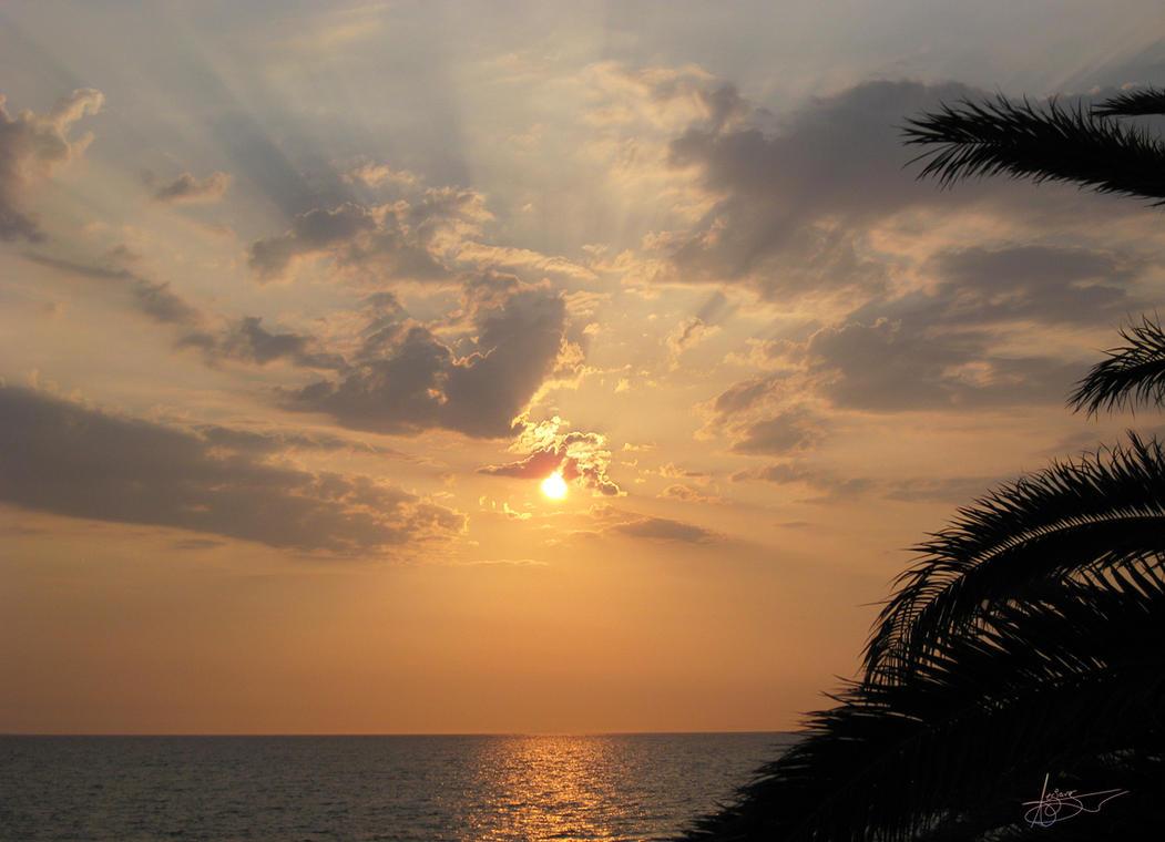 burning sunset. by tomasse
