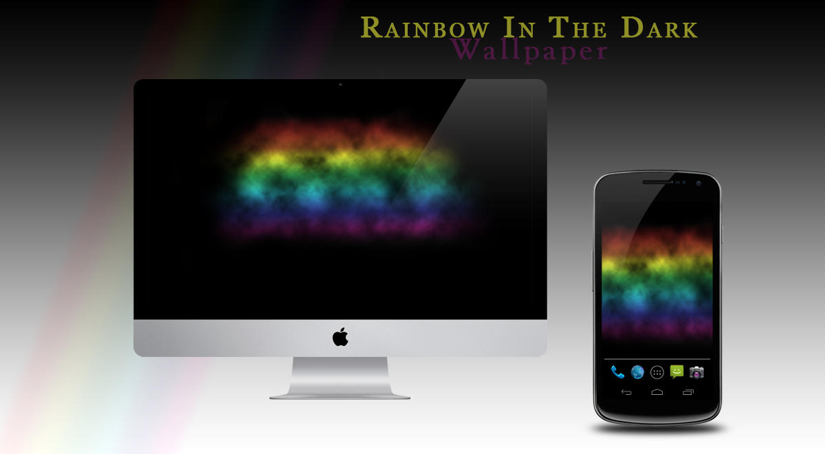 Rainbow In The Dark Wallpaper by mysterious-emerald