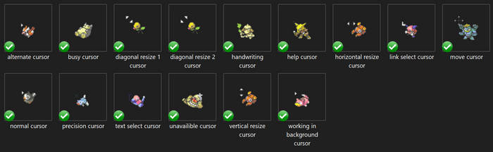Animated Pokemon Cursor Set v.2