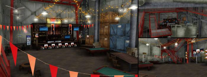 [MMD] Bar in the hangar [DL]