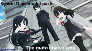 MMD: LAT Main characters pack DL [School Days]
