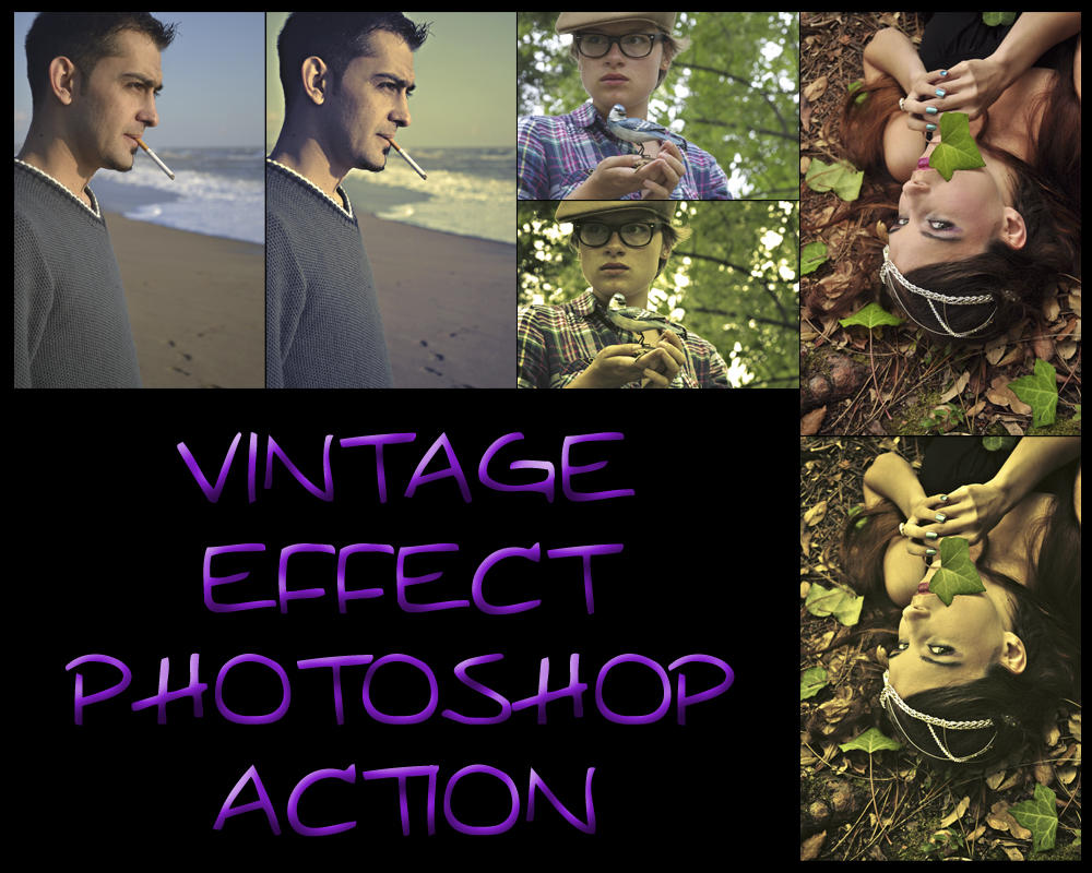 Vintage Effect Photoshop Action by ysndkn