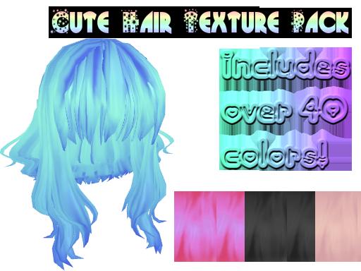 [MMD] Cute hair textures by MMDandSims3