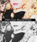 PSD Color  Black and white