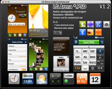 LG Arena UI PSD v1.2