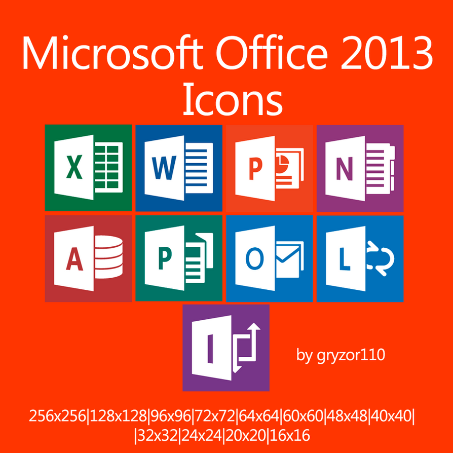 microsoft office 2013 icons by gryzor110 on deviantart. Black Bedroom Furniture Sets. Home Design Ideas