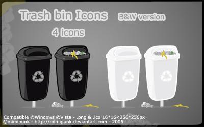 TrashBin BW Icons by mimipunk