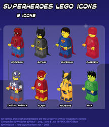 SuperHeroes Lego Icons by mimipunk
