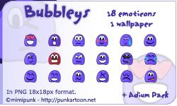 Bubbleys Emoticons by mimipunk
