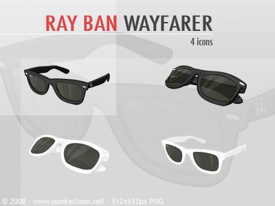 RayBan Wayfarer Icons by mimipunk