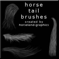 Horse Tail Brushes by erraticstudios