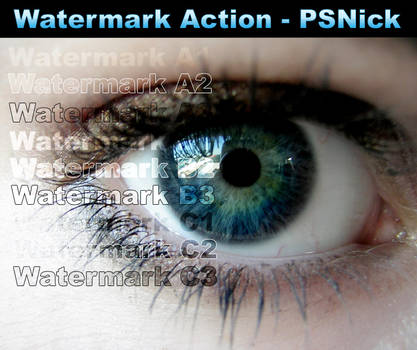 Watermark Photoshop Action by PSNick