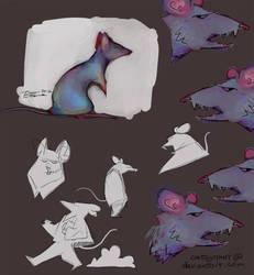 rat character turnaround