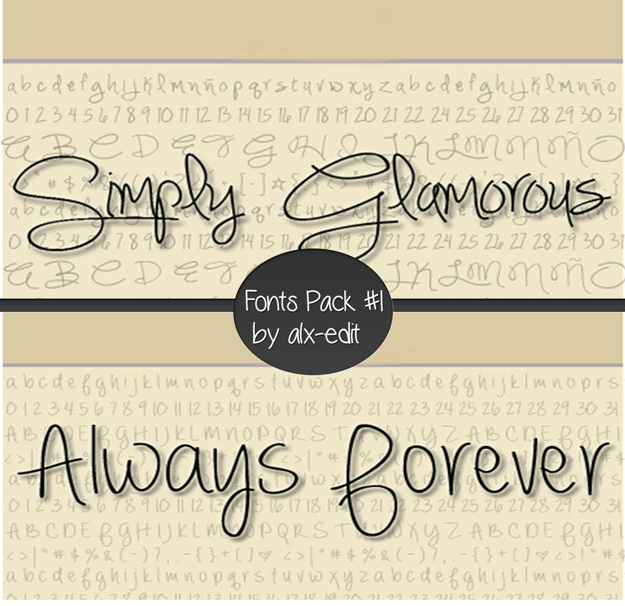 Download Fonts Pack #1 | Photoshop| by alx-edit on DeviantArt