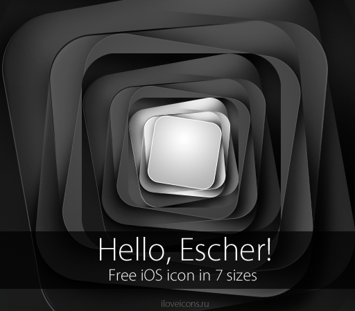 Free iOS icon - Hello, Escher by i-love-icons on DeviantArt