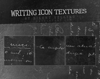 writing icon textures