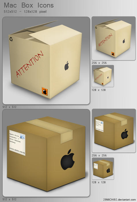 Mac Box Icons by 29MiCHi92